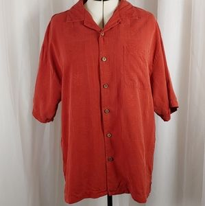 Tommy Bahama 100% Silk Weaved Tropical L